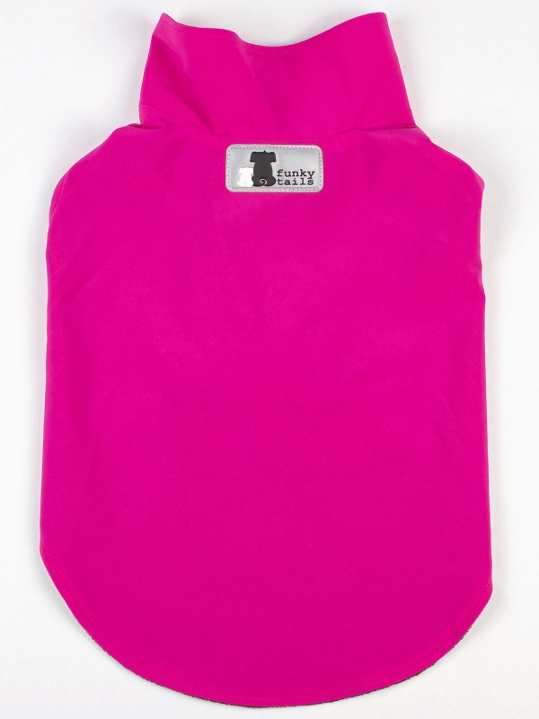 Funky Tails Dog Raincoat - PINK